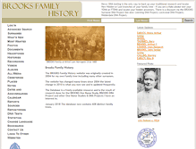 Tablet Preview of brooksfamilyhistory.co.uk